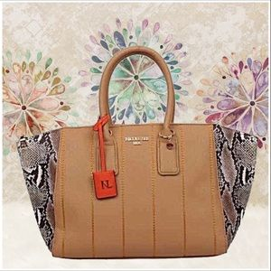 Emerson Faux-Snakeskin Tote Bag